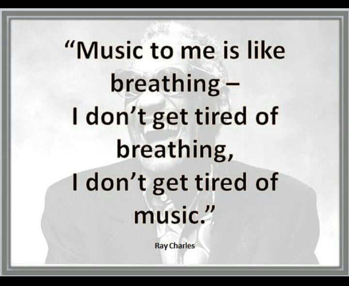 Music, to me, is like breathing-