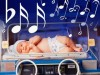Babies soothed with musictherapy